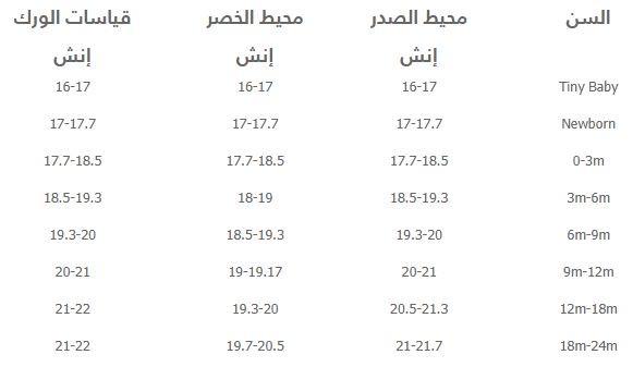 قياسات eu من Namshi للاطفال